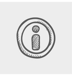 GPS eye sketch icon vector image