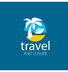 logo travel vector image