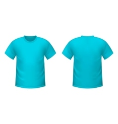 Realistic blue t-shirt vector image vector image