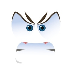 Angry emoticon face icons vector