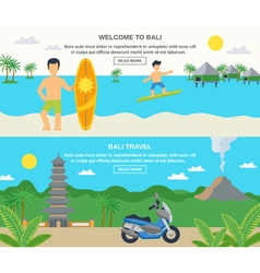 Bali travel banners vector
