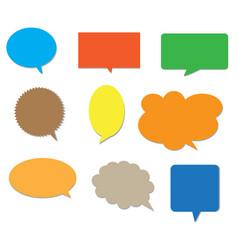blank empty colors speech bubbles vector image vector image