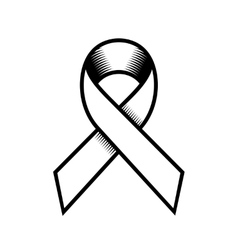 Breast cancer retro style ribbon on white vector