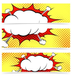 Comic book retro style web header vector image vector image
