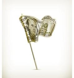Dollar flag vector image vector image