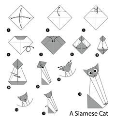 Make origami a siamese cat vector