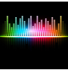 multicolored abstract sound background vector image