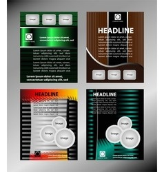 template for advertising brochure set vector image