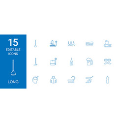 15 long icons vector