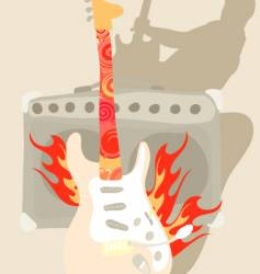 abstract band background vector image