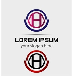 Abstract Letter h Icon vector