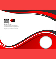Abstract red and black geometric on white vector