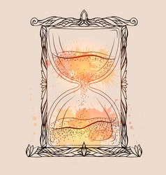 an hourglass vector image