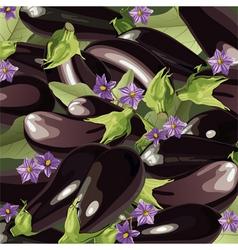 Background of aubergine vector