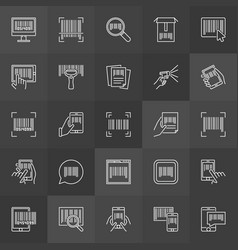 Bar code linear icons collection of vector