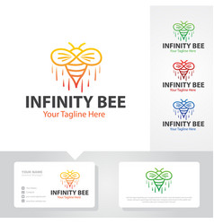 bee logo designs vector image