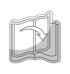 Book line design icon image vector