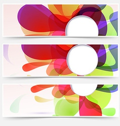 Bright web headers set - abstract liquid vector image