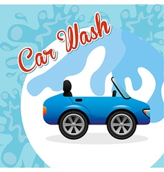 Car wash service vector