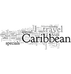 caribbean travel specia vector image