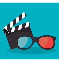 Cartoon clapperboard film festival movie design vector