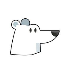 Cartoon cute polar bear wild artic vector