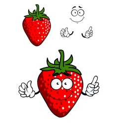 Cartoon fresh red strawberry vector