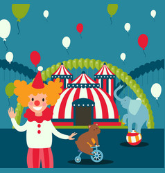 Circus show poster carnival vector