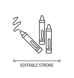 Crayons pixel perfect linear icon vector