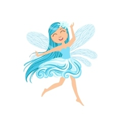 Cute Fairy Of Wind Element Girly Cartoon Character vector