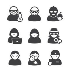 Cybercriminals vector image