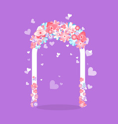element for romantic ceremony wedding arch vector image