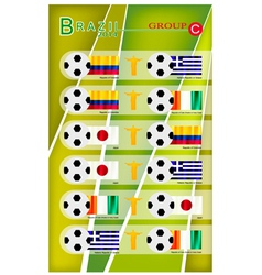 Football Tournament of Brazil 2014 Group C vector image