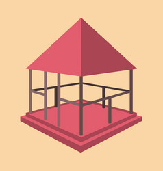 Garden pavilions and furniture icon vector