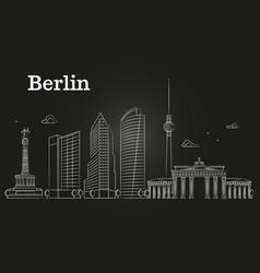 germany berlin line landscape city vector image vector image