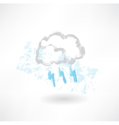 grey cloud grunge icon vector image