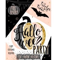 Halloween glitter luxury vector