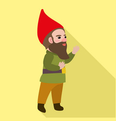 happy dwarf icon flat style vector image
