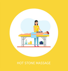 hot stone massage asian technique with heat method vector image