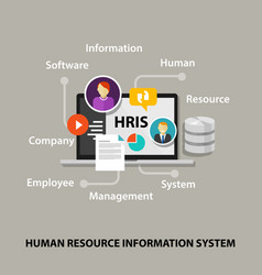 Hris human resources information system software vector