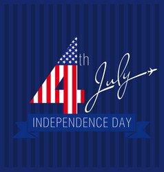 independence day usa vector image