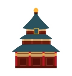 Indian temple with arch cartoon building vector