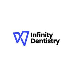 infinity dental dentist dentistry logo icon vector image