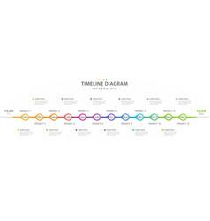 Infographic modern timeline diagram calendar vector