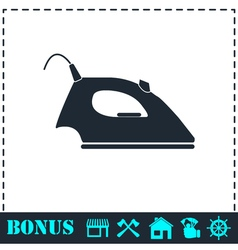 Iron icon flat vector