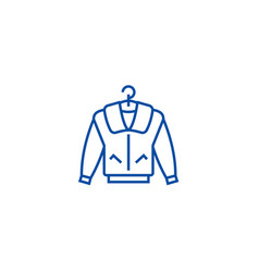 jacket line icon concept jacket flat vector image