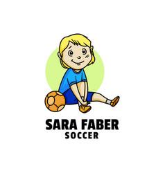 logo child cute cartoon style vector image