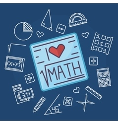 Math education background vector