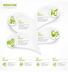 medical green infographic vector image