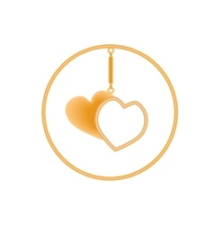 Metal charm heart pendants for necklace or vector image